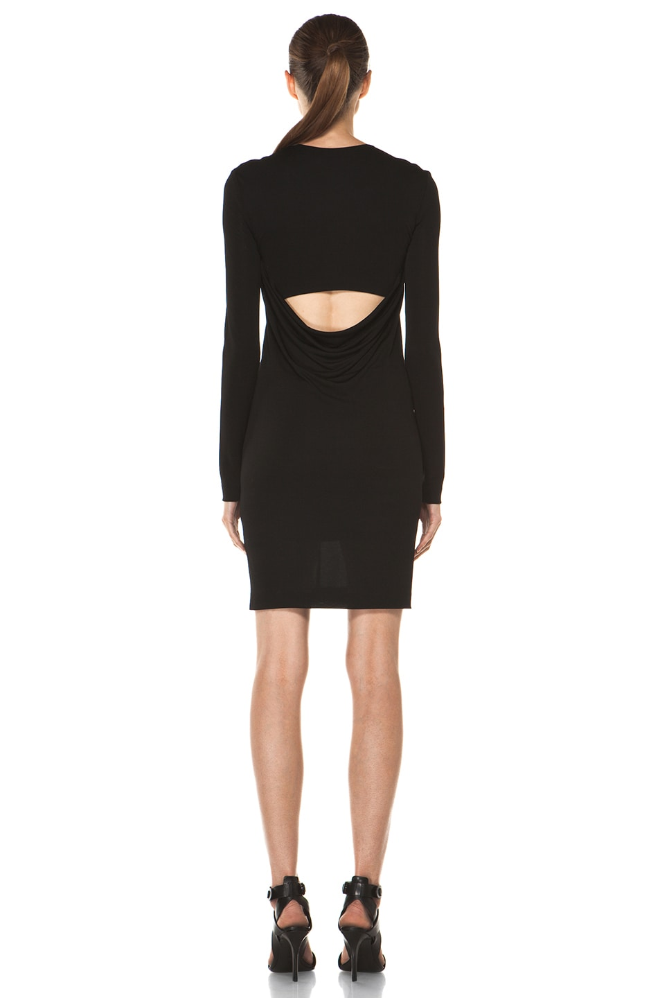 Image 4 of T by Alexander Wang Drape Back Dress in Black