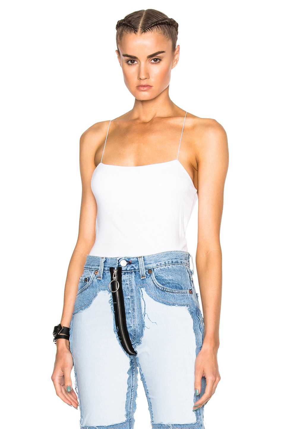 Image 2 of T by Alexander Wang Modal Spandex Strappy Cami Tank in White