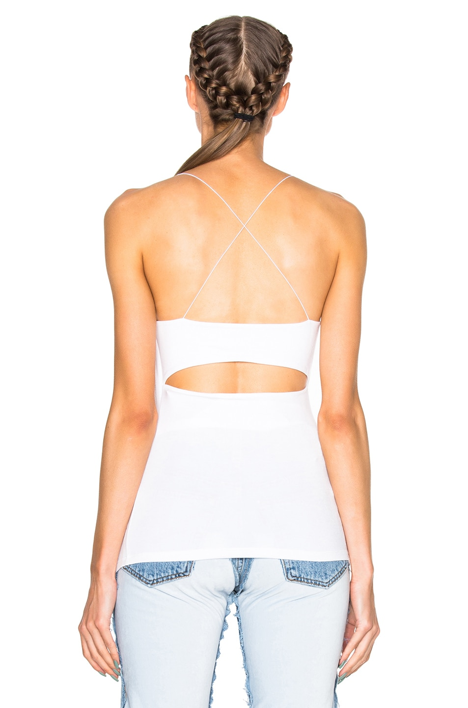 Image 5 of T by Alexander Wang Modal Spandex Strappy Cami Tank in White