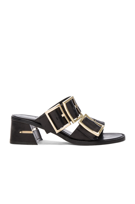Image 1 of Tibi Leather Kari Sandals in Black