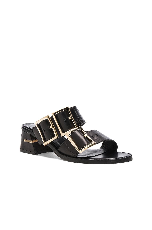 Image 2 of Tibi Leather Kari Sandals in Black