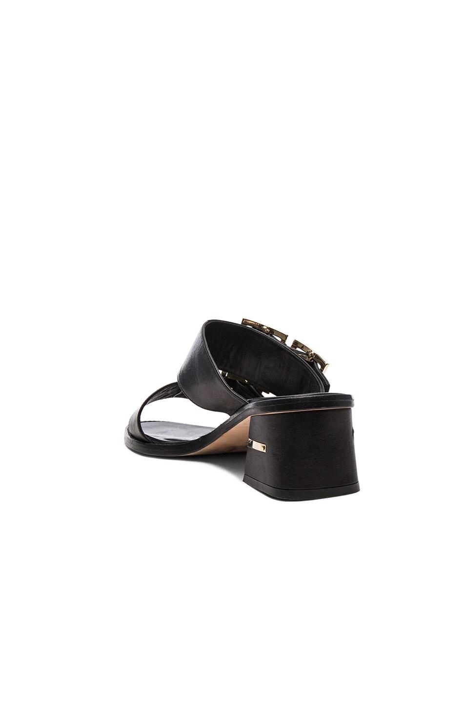 Image 3 of Tibi Leather Kari Sandals in Black