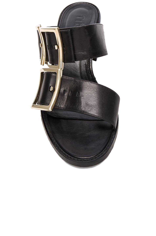 Image 4 of Tibi Leather Kari Sandals in Black