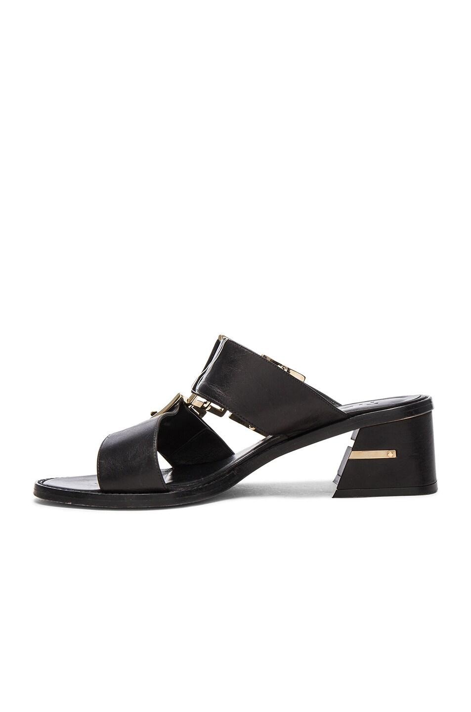 Image 5 of Tibi Leather Kari Sandals in Black