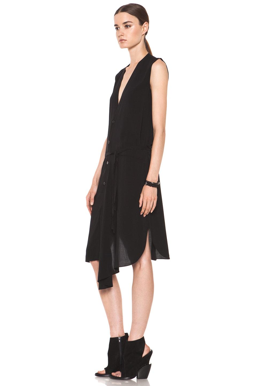 Image 2 of Tess Giberson Asymmetric Shirt Dress in Black