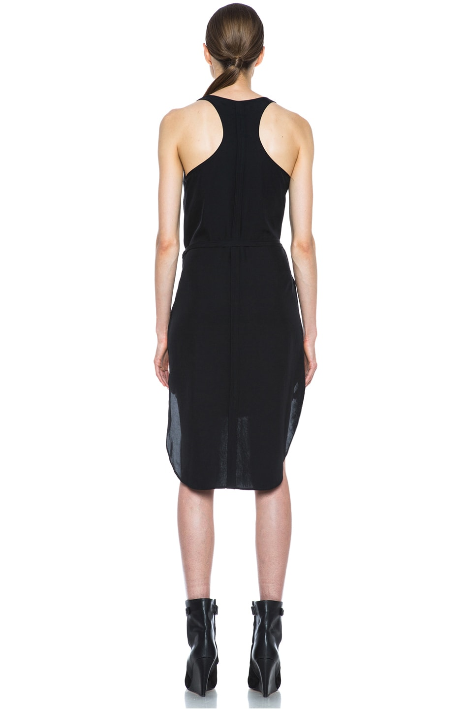 Image 4 of Tess Giberson Jacquard Lame Dress in Black