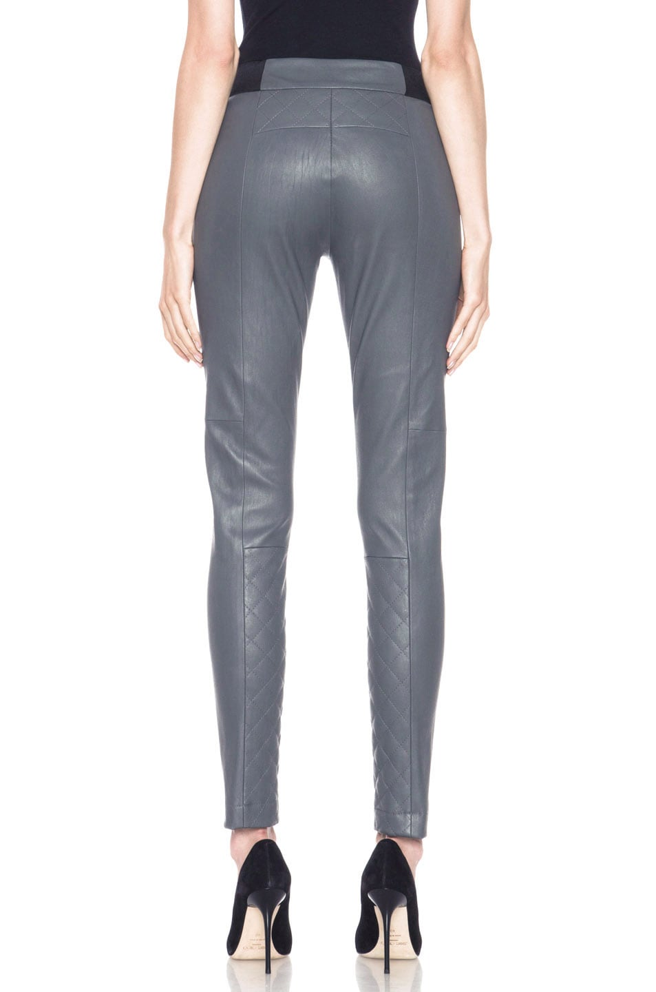 Image 4 of Thakoon Addition Lambskin Leather Legging in Grey