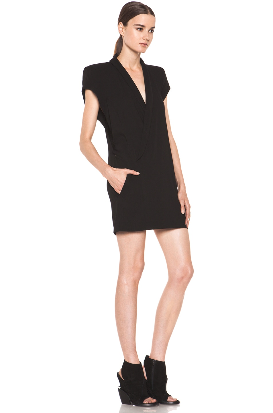Image 3 of Theyskens' Theory Dune Fabby Dress in Black