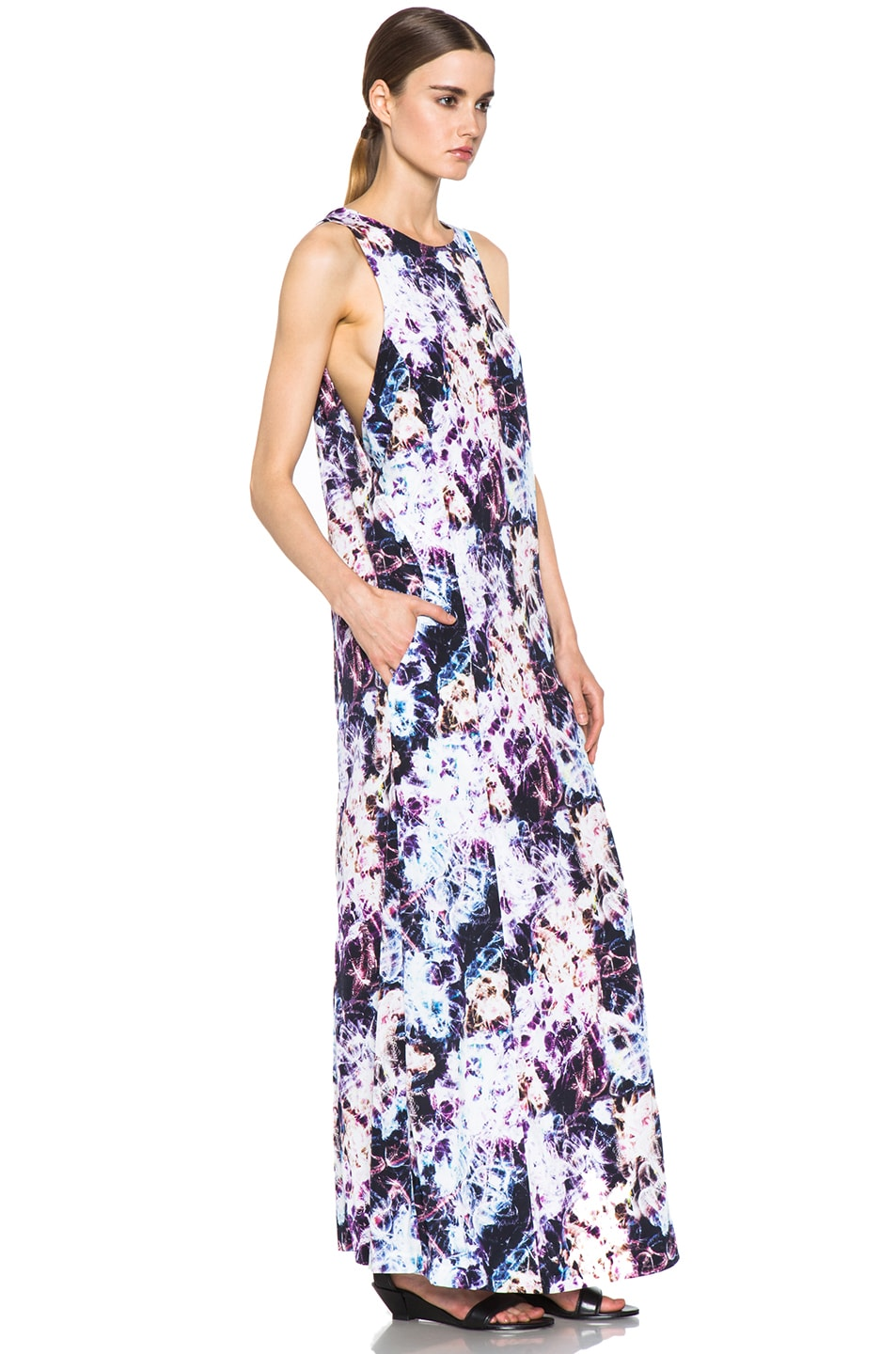 Image 3 of Theyskens' Theory Dlilac Ilight Maxi Dress in Bright Multi