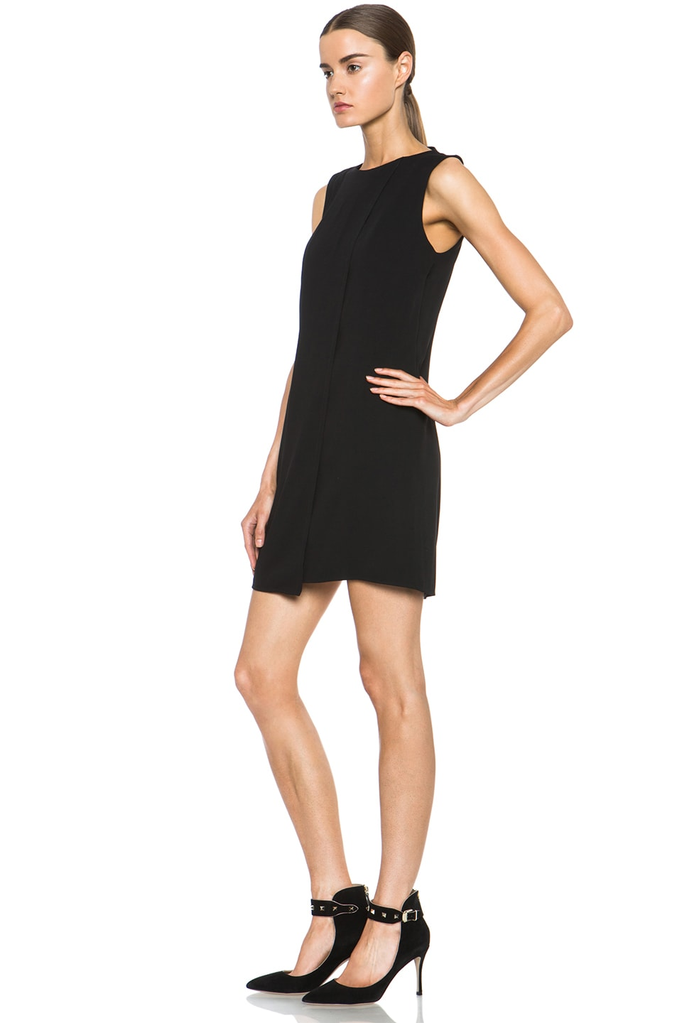 Image 2 of Theyskens' Theory Fabby Dwato Viscose Dress in Black