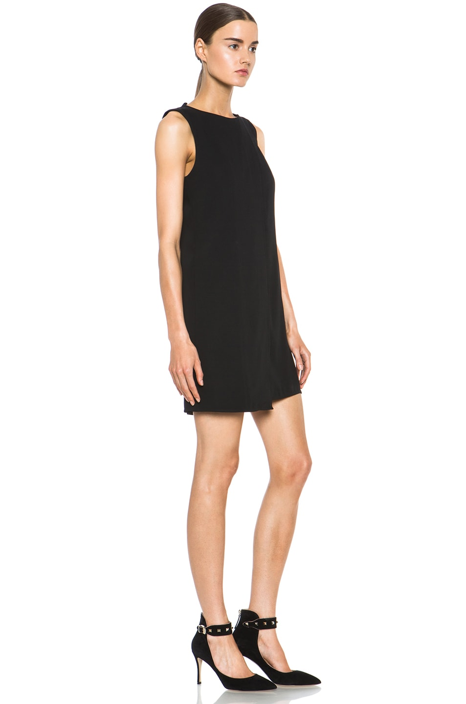 Image 3 of Theyskens' Theory Fabby Dwato Viscose Dress in Black