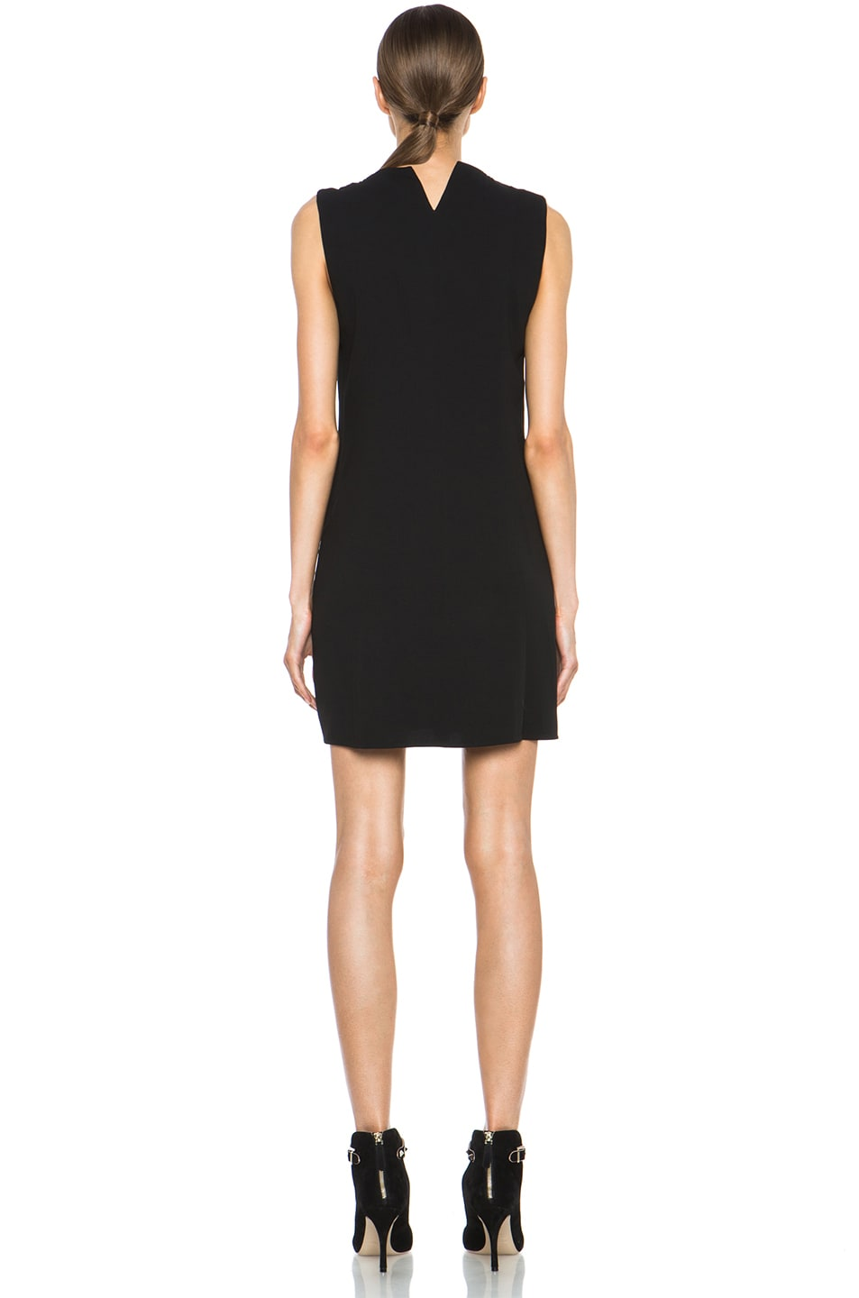 Image 4 of Theyskens' Theory Fabby Dwato Viscose Dress in Black