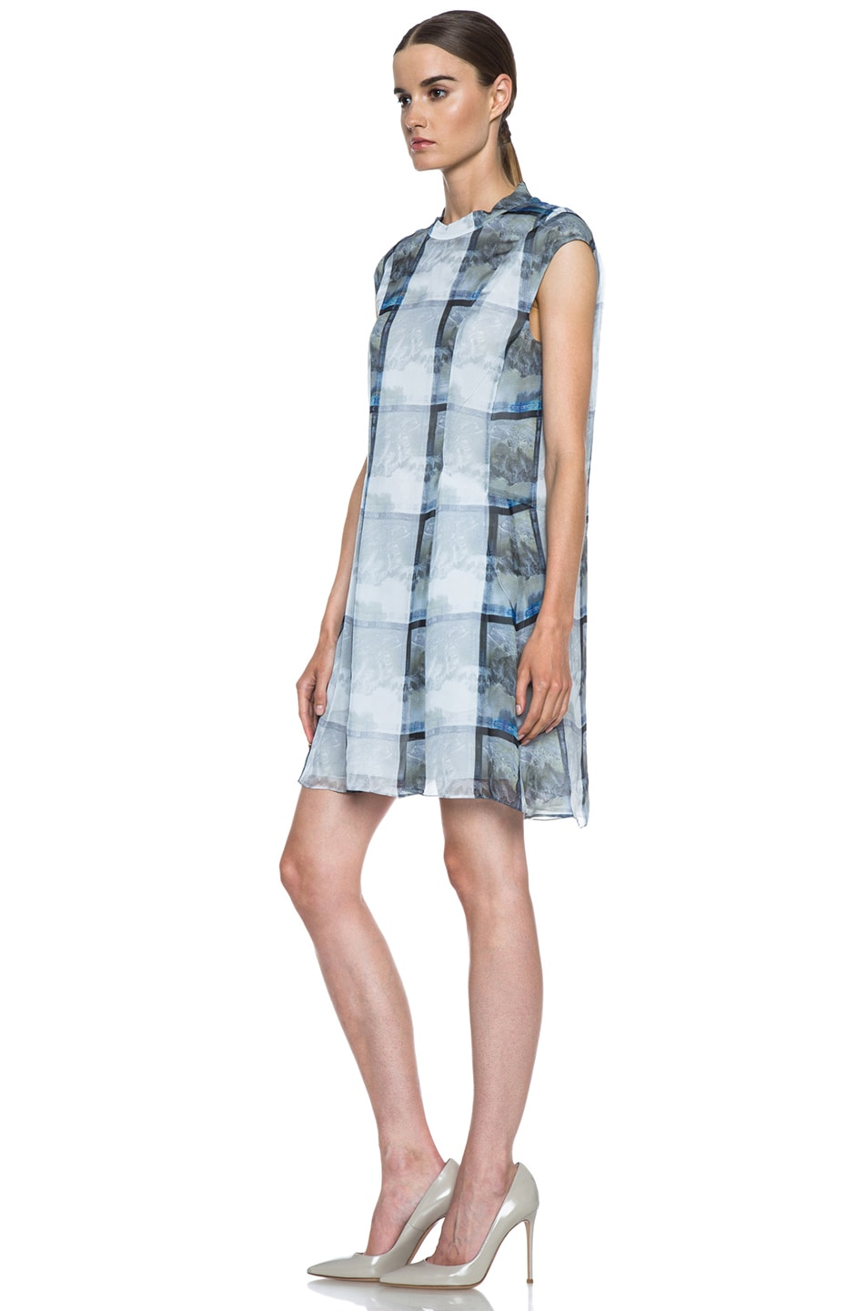 Image 2 of Theyskens' Theory Deden Silk Dress in Light Multi