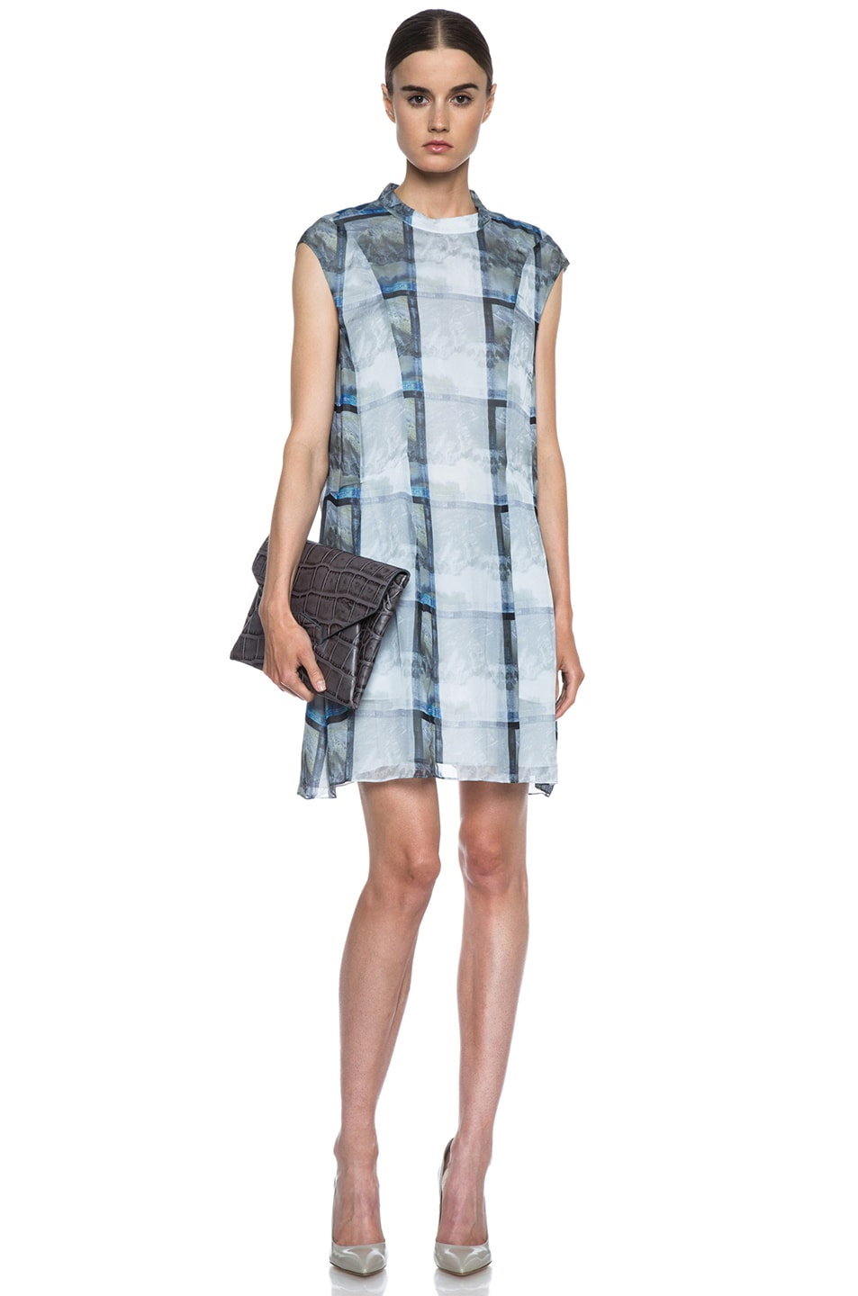 Image 5 of Theyskens' Theory Deden Silk Dress in Light Multi