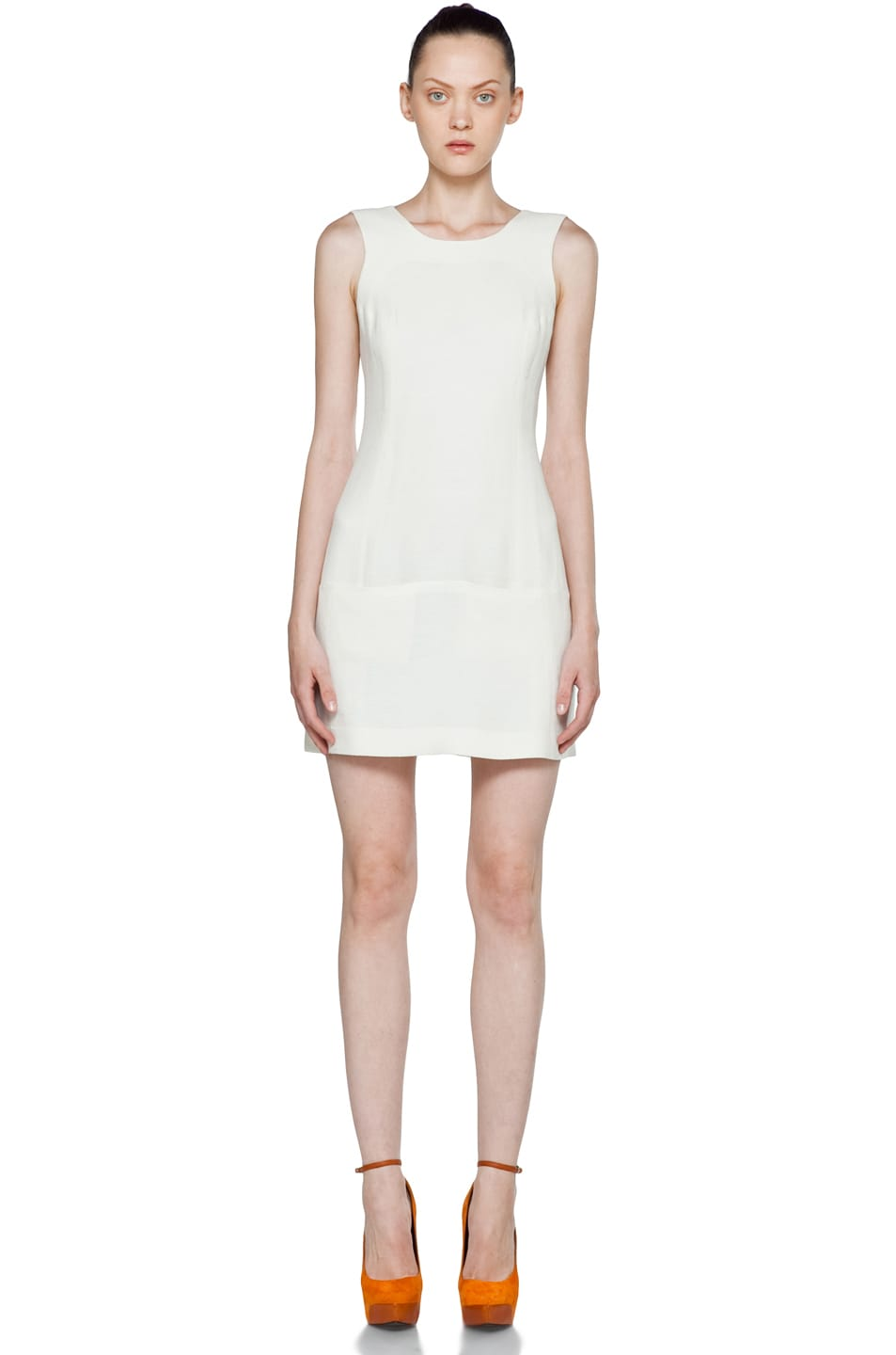 Image 1 of Theyskens' Theory Fokali Dhidas Dress in Dusty White
