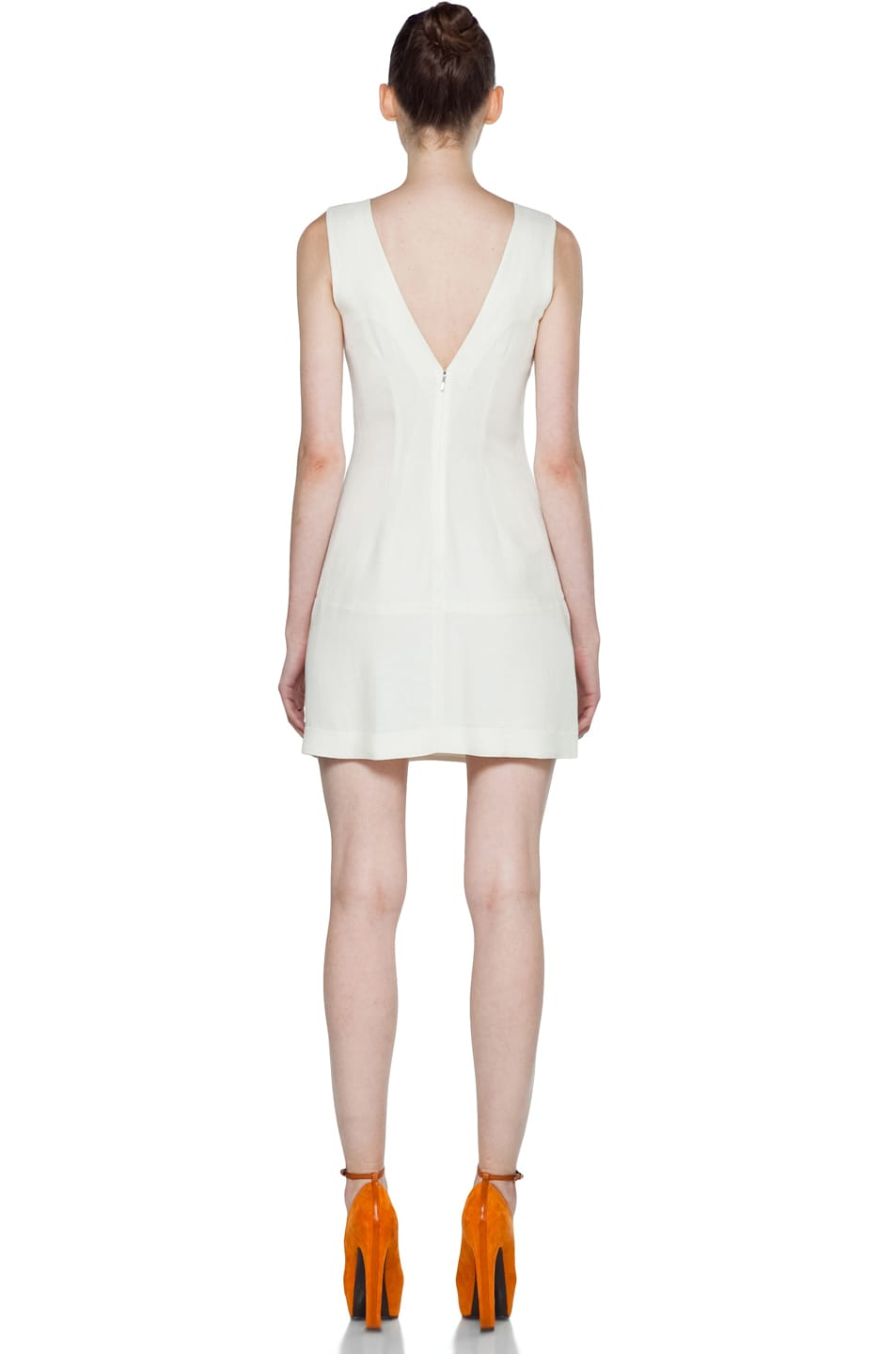 Image 4 of Theyskens' Theory Fokali Dhidas Dress in Dusty White