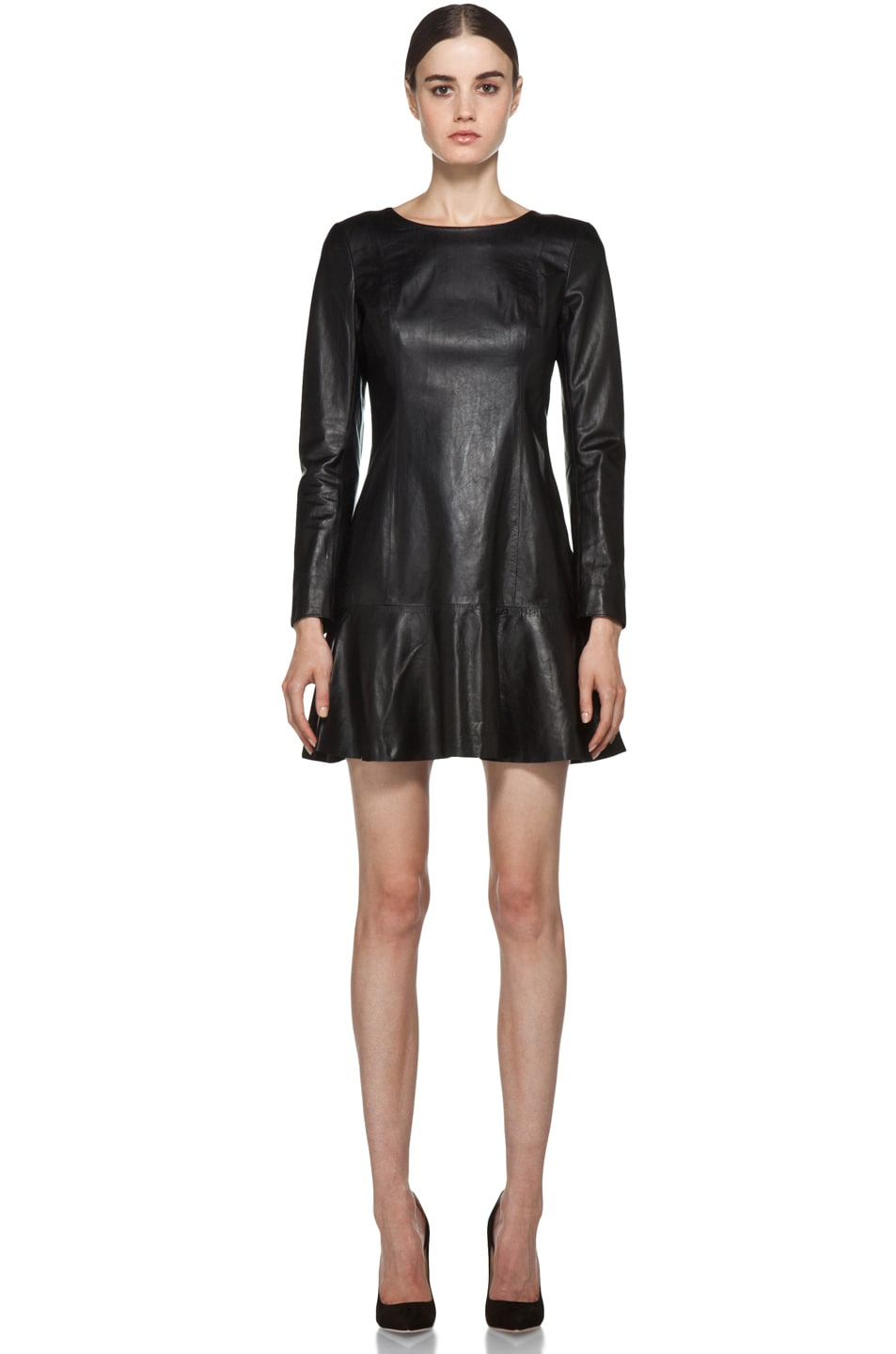 Image 1 of Theyskens' Theory Nibet Diri Leather Dress in Black