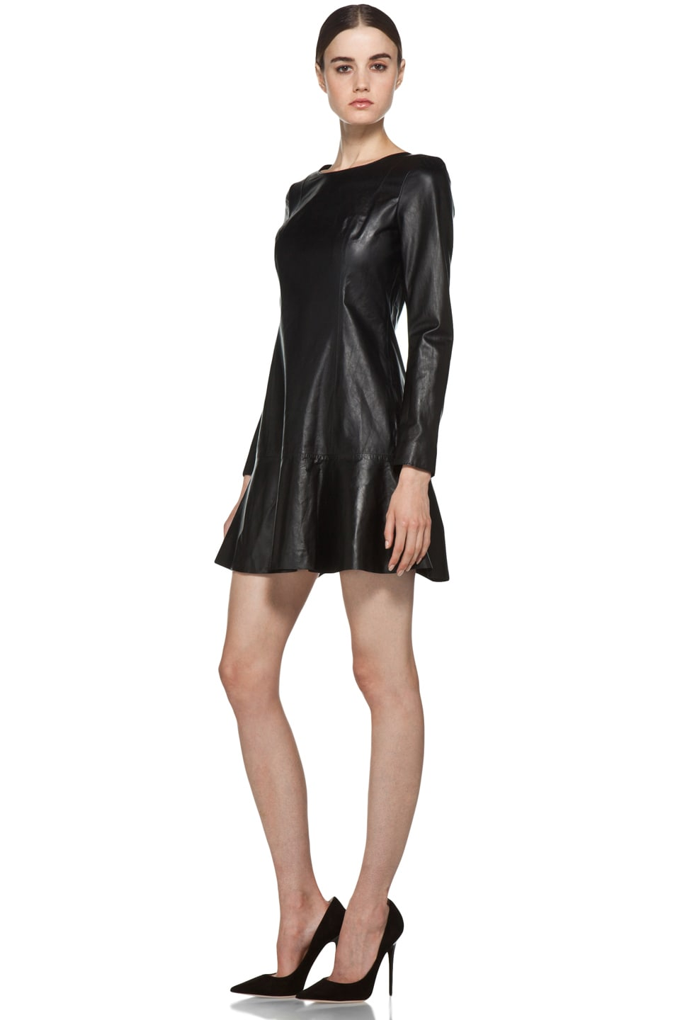 Image 2 of Theyskens' Theory Nibet Diri Leather Dress in Black