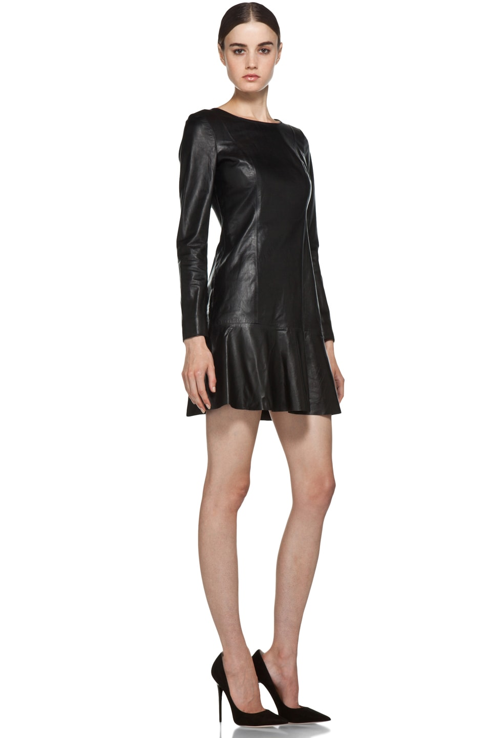 Image 3 of Theyskens' Theory Nibet Diri Leather Dress in Black