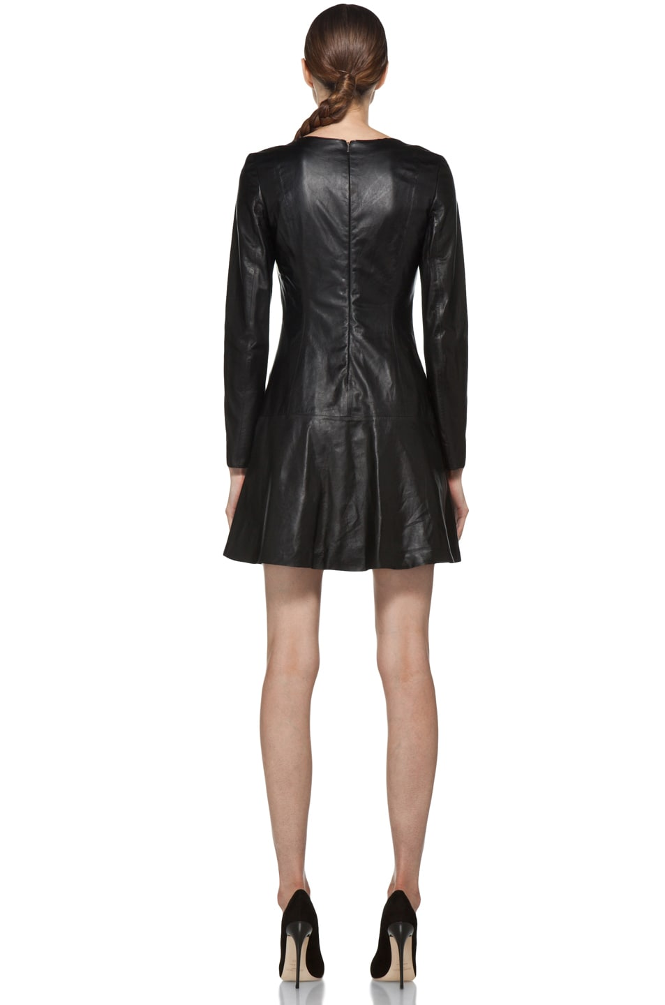 Image 4 of Theyskens' Theory Nibet Diri Leather Dress in Black