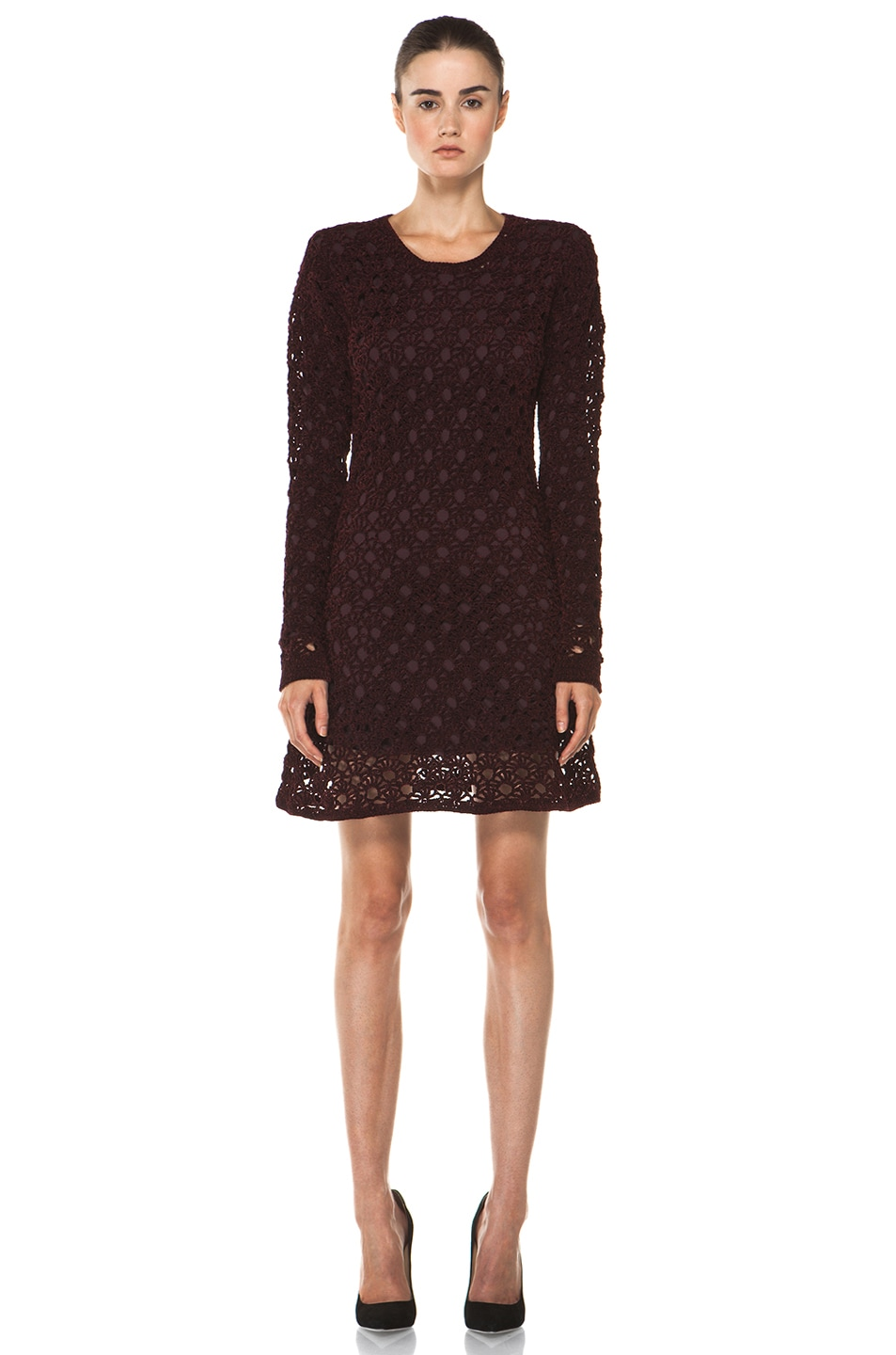 Image 1 of Theyskens' Theory Keify Yupy Sweater Dress in Deep Red