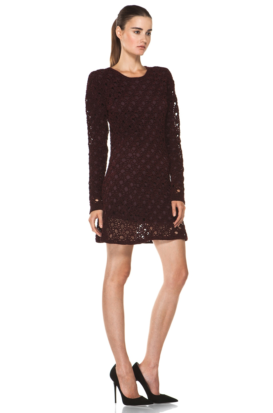 Image 3 of Theyskens' Theory Keify Yupy Sweater Dress in Deep Red