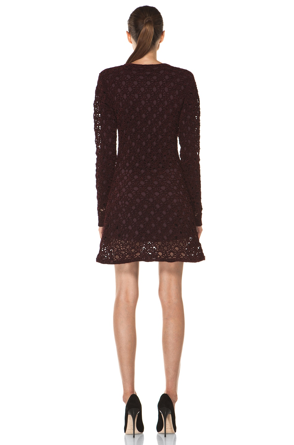 Image 4 of Theyskens' Theory Keify Yupy Sweater Dress in Deep Red