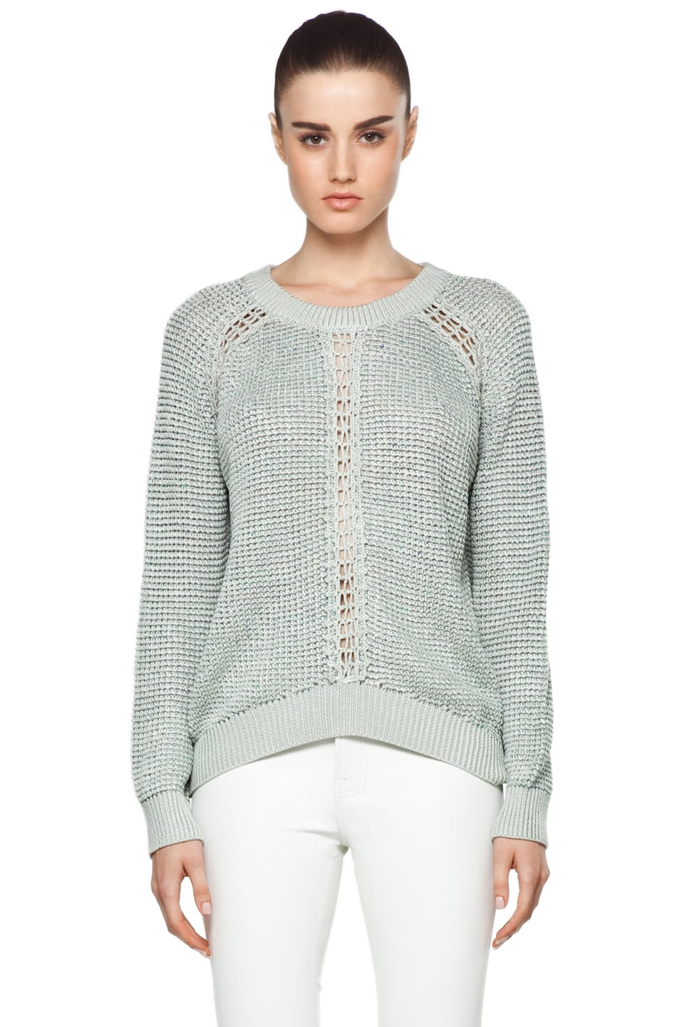 Image 1 of Theyskens' Theory Yigly Kyrt Sweater in Mint Green