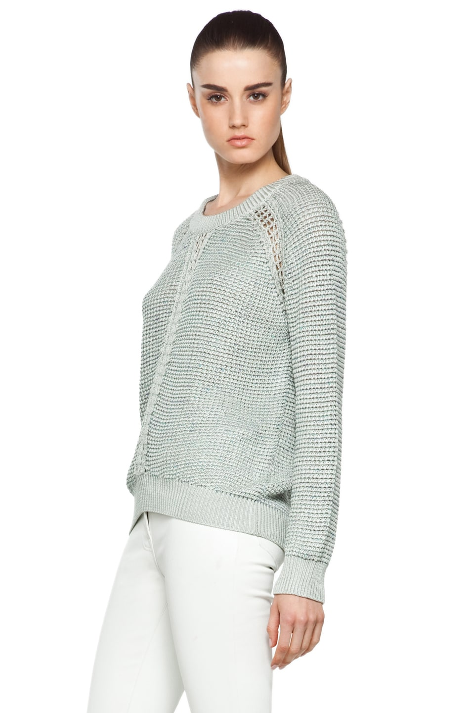 Image 2 of Theyskens' Theory Yigly Kyrt Sweater in Mint Green