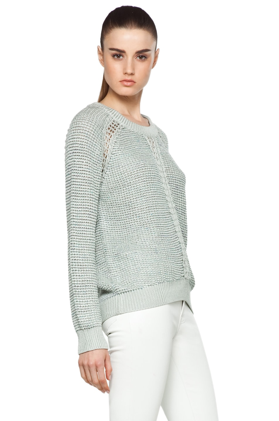 Image 3 of Theyskens' Theory Yigly Kyrt Sweater in Mint Green