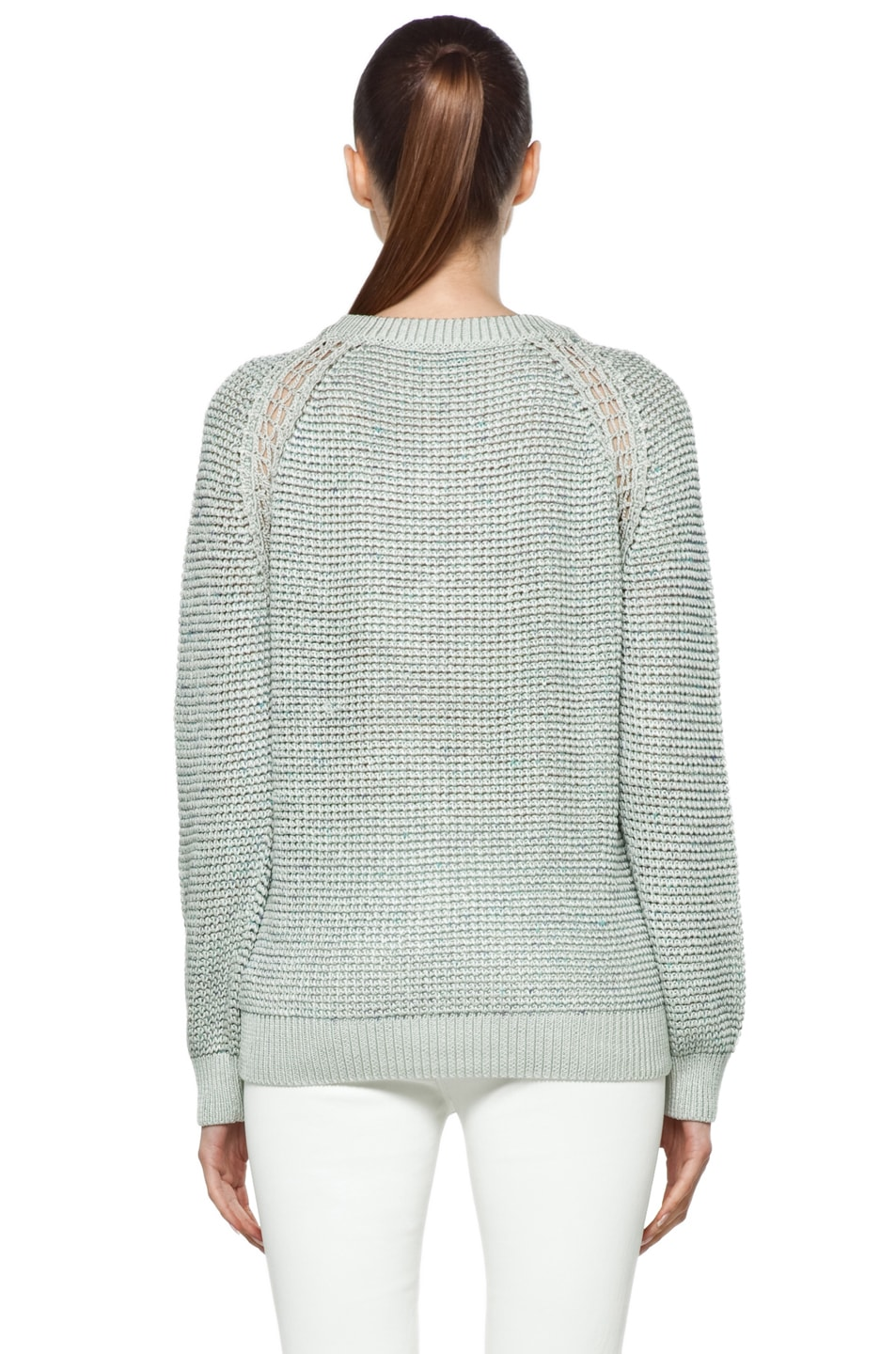 Image 4 of Theyskens' Theory Yigly Kyrt Sweater in Mint Green