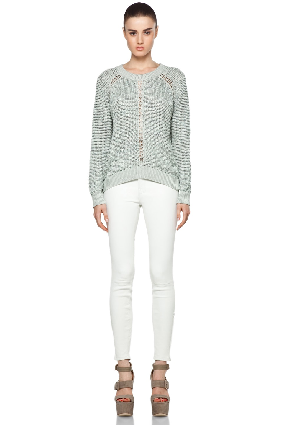 Image 5 of Theyskens' Theory Yigly Kyrt Sweater in Mint Green