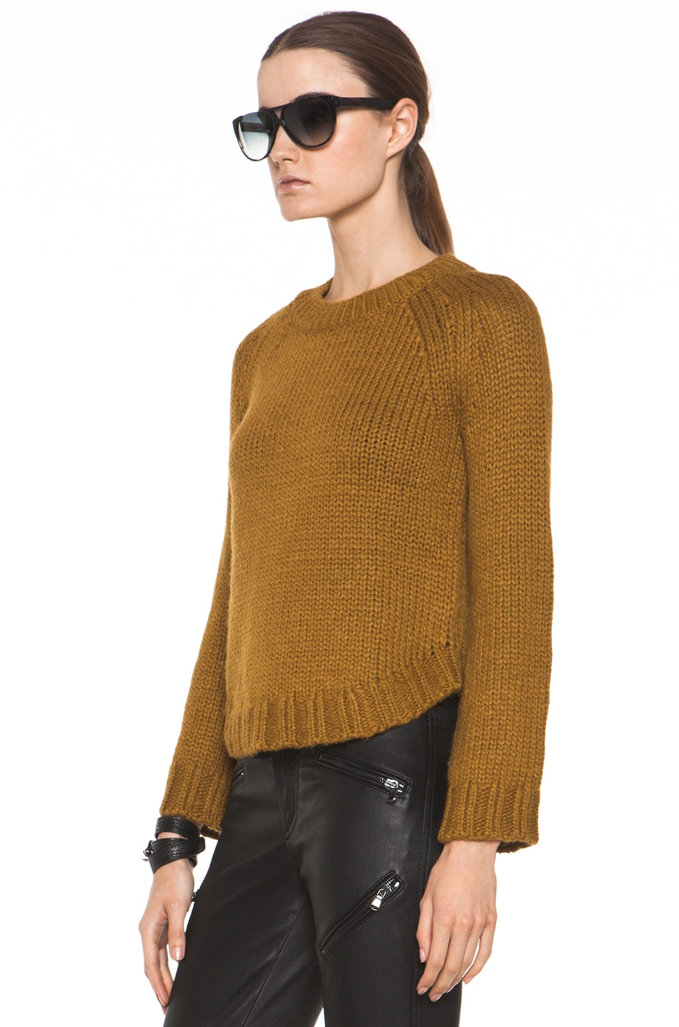 Image 2 of Theyskens' Theory Knop Yourney Sweater in Mustard