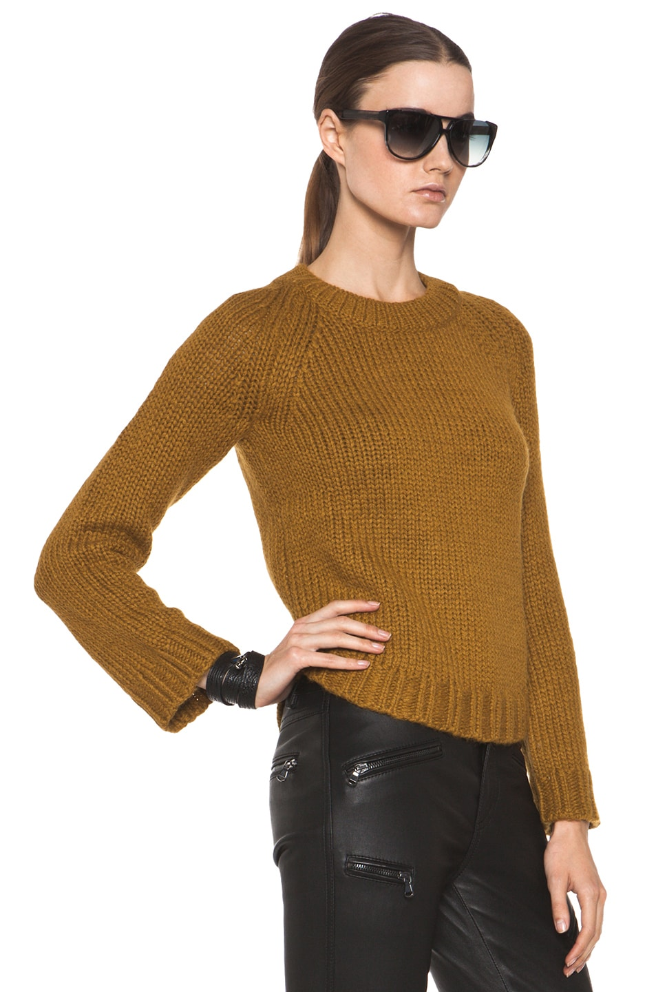 Image 3 of Theyskens' Theory Knop Yourney Sweater in Mustard