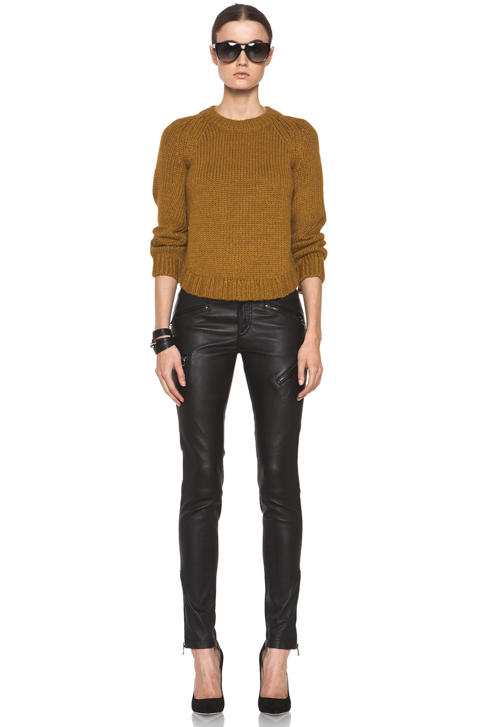 Image 5 of Theyskens' Theory Knop Yourney Sweater in Mustard