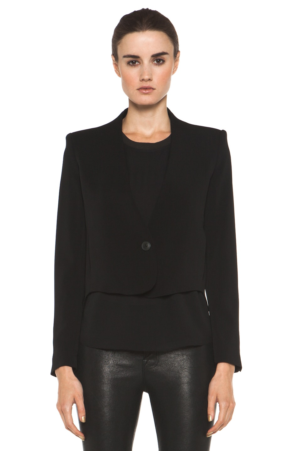 Image 2 of Theyskens' Theory Fomment Jirdo Jacket in Black