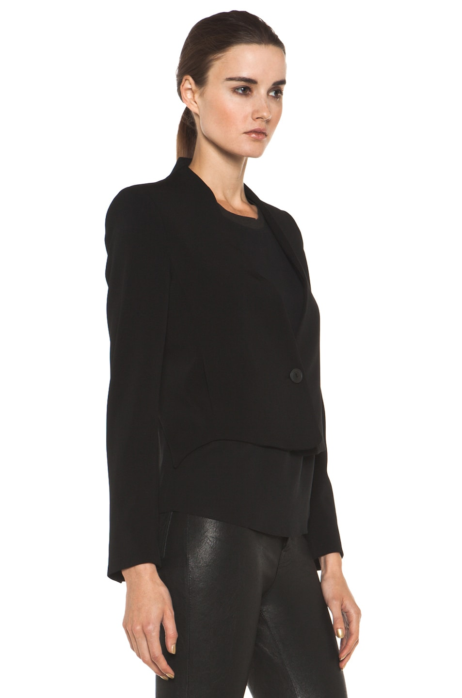Image 4 of Theyskens' Theory Fomment Jirdo Jacket in Black