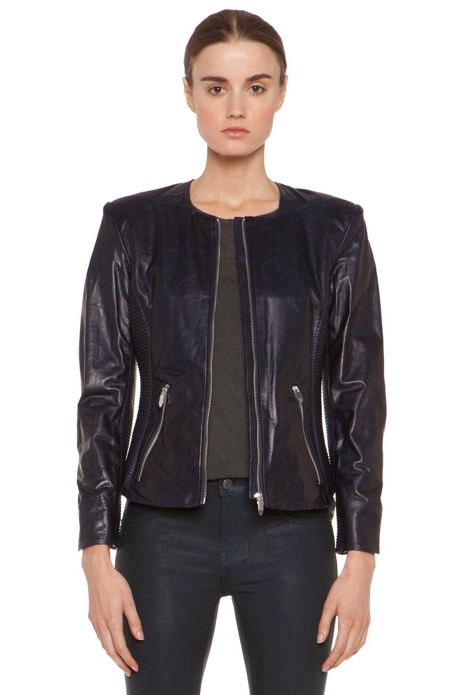 Image 1 of Theyskens' Theory Jadra Nolfora Leather Jacket in Dark Marine