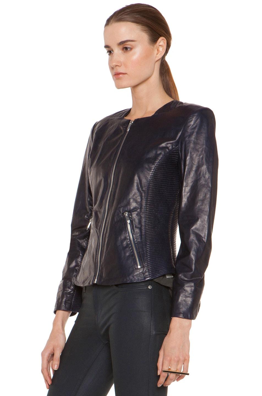 Image 3 of Theyskens' Theory Jadra Nolfora Leather Jacket in Dark Marine