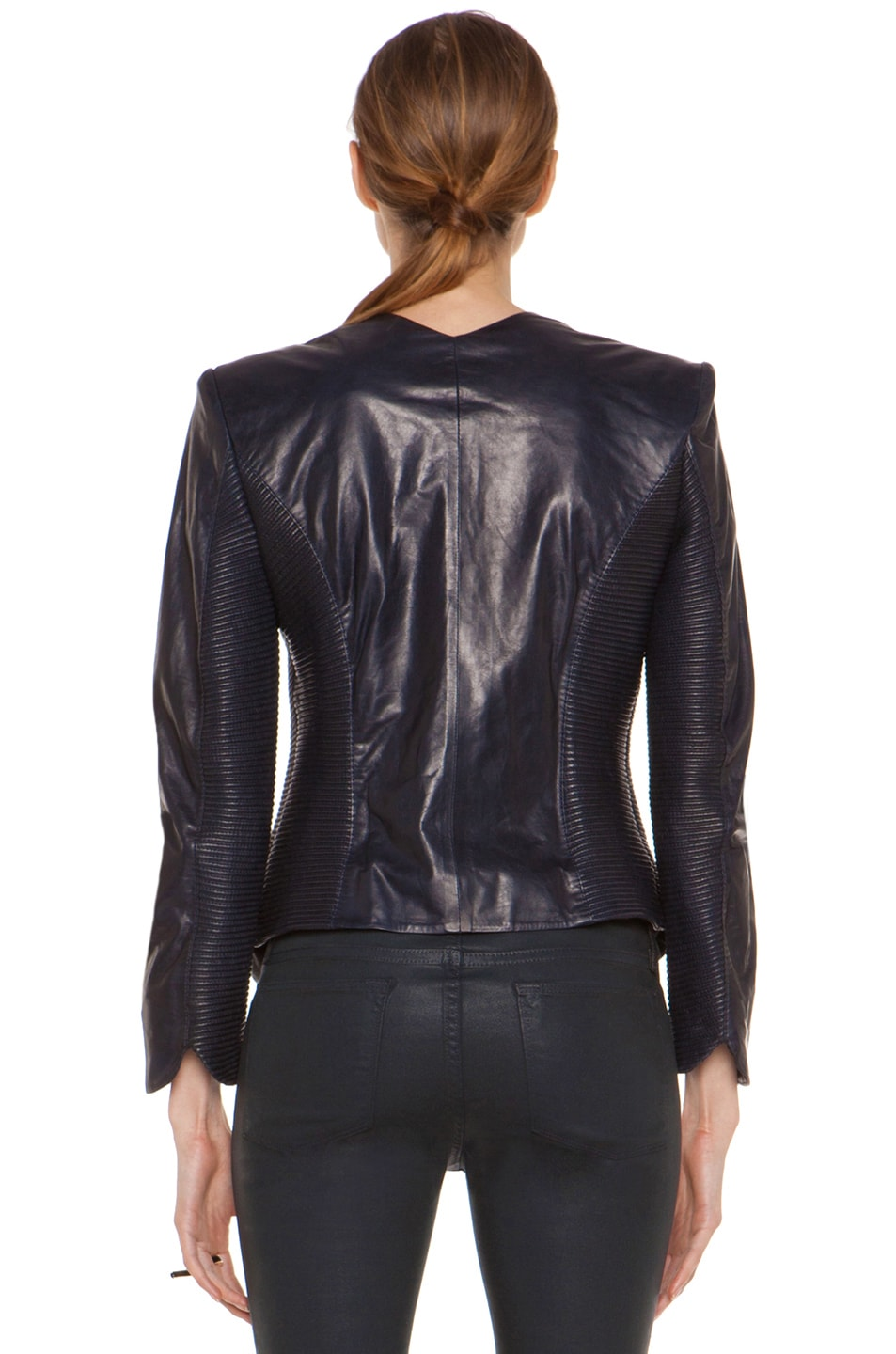 Image 5 of Theyskens' Theory Jadra Nolfora Leather Jacket in Dark Marine