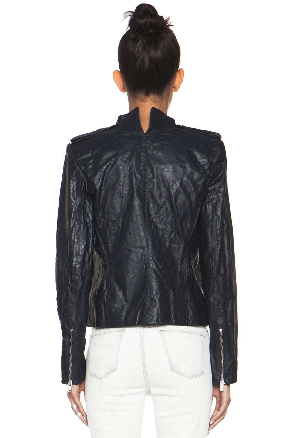 Image 5 of Theyskens' Theory Nota Jose Leather Blazer in Marine