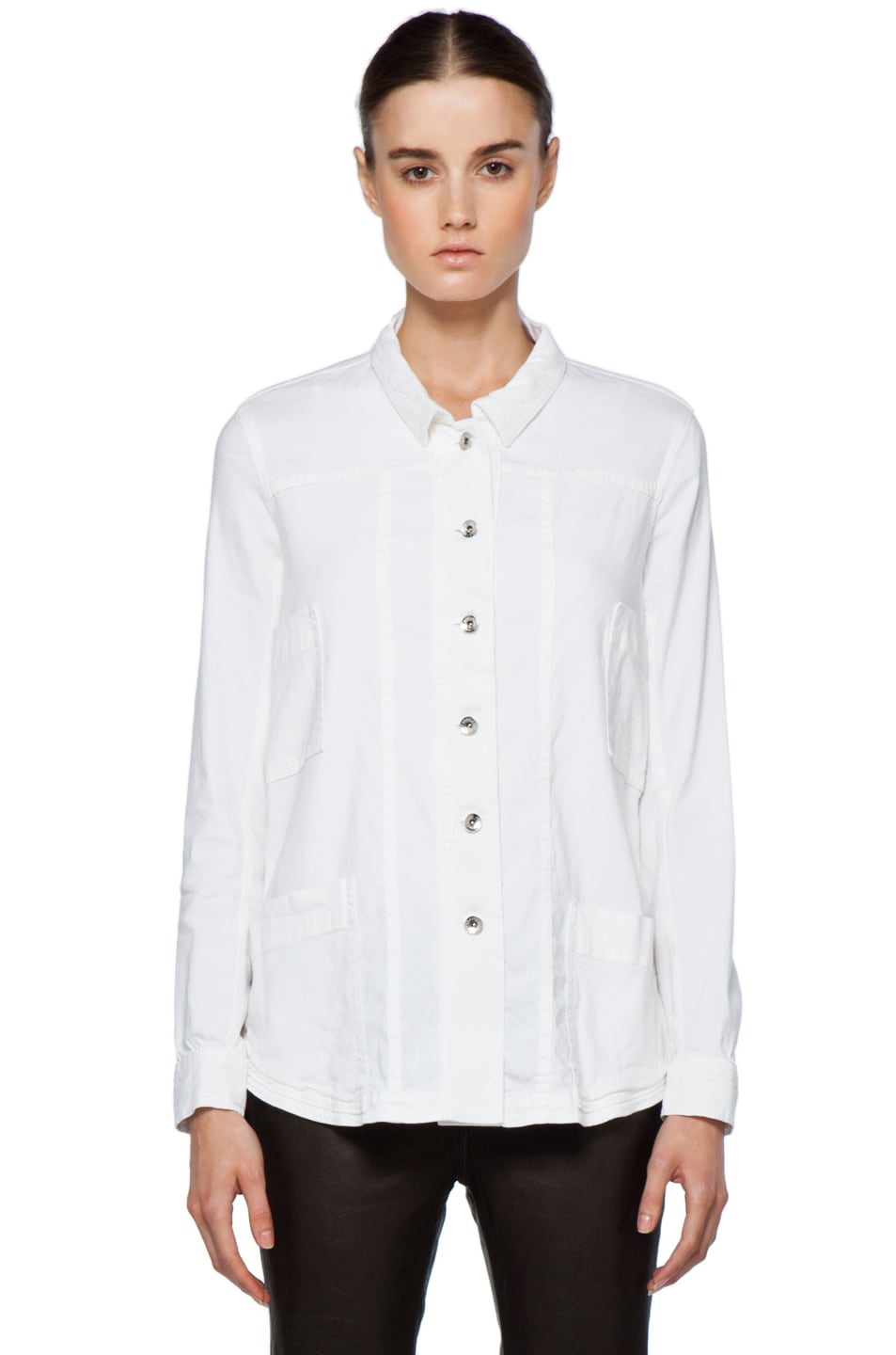 Image 2 of Theyskens' Theory Fecconi Jullan Jacket in Optic White