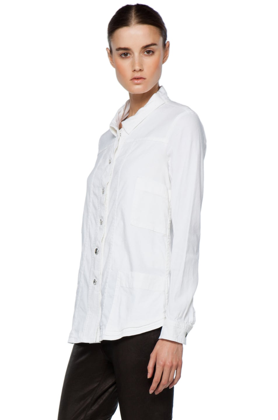 Image 3 of Theyskens' Theory Fecconi Jullan Jacket in Optic White