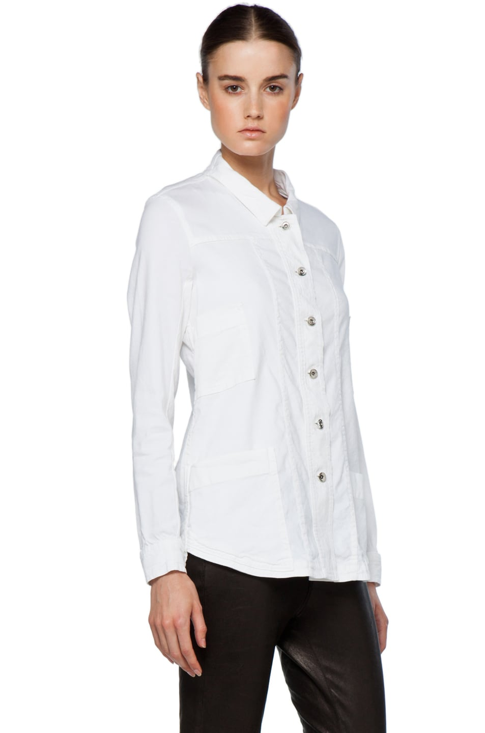 Image 4 of Theyskens' Theory Fecconi Jullan Jacket in Optic White