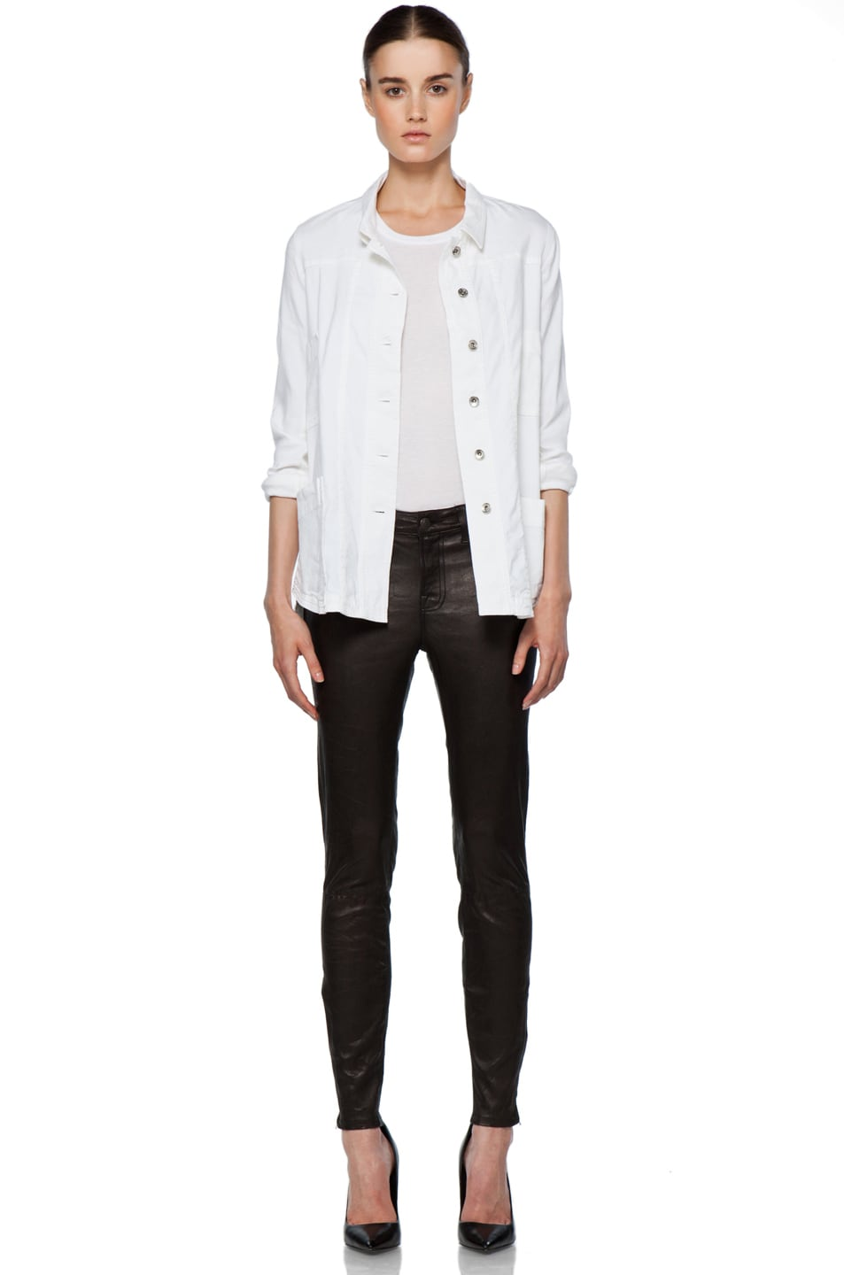 Image 6 of Theyskens' Theory Fecconi Jullan Jacket in Optic White