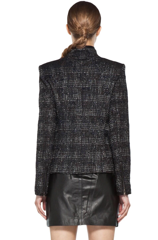 Image 5 of Theyskens' Theory Fuille Jarbon Tweed Jacket in Black Multi