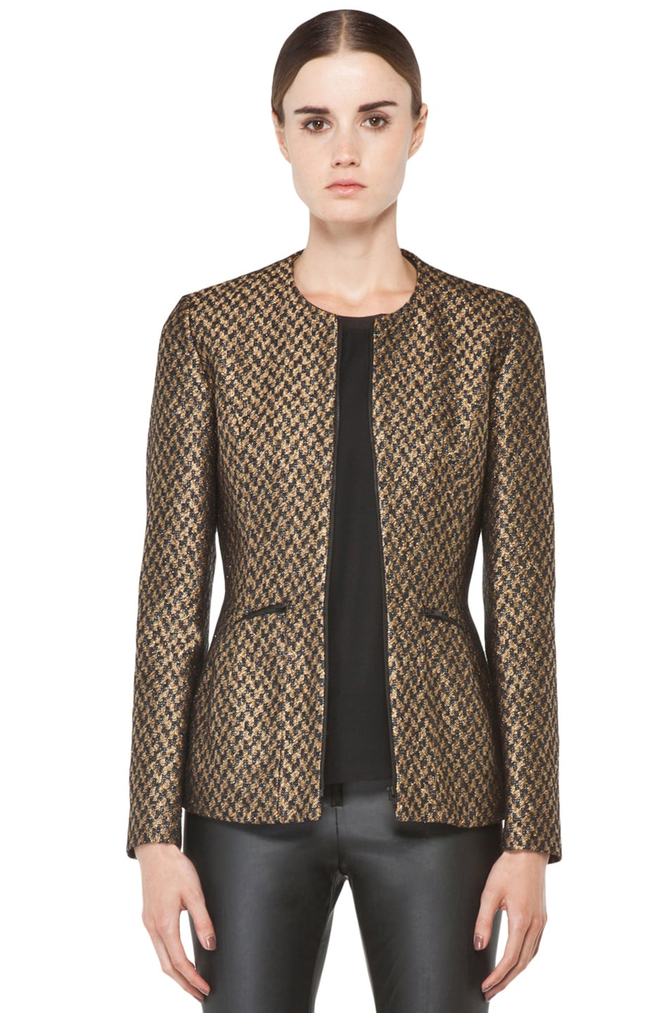 Image 1 of Theyskens' Theory Jelsor Faize Jacket in Gold Multi