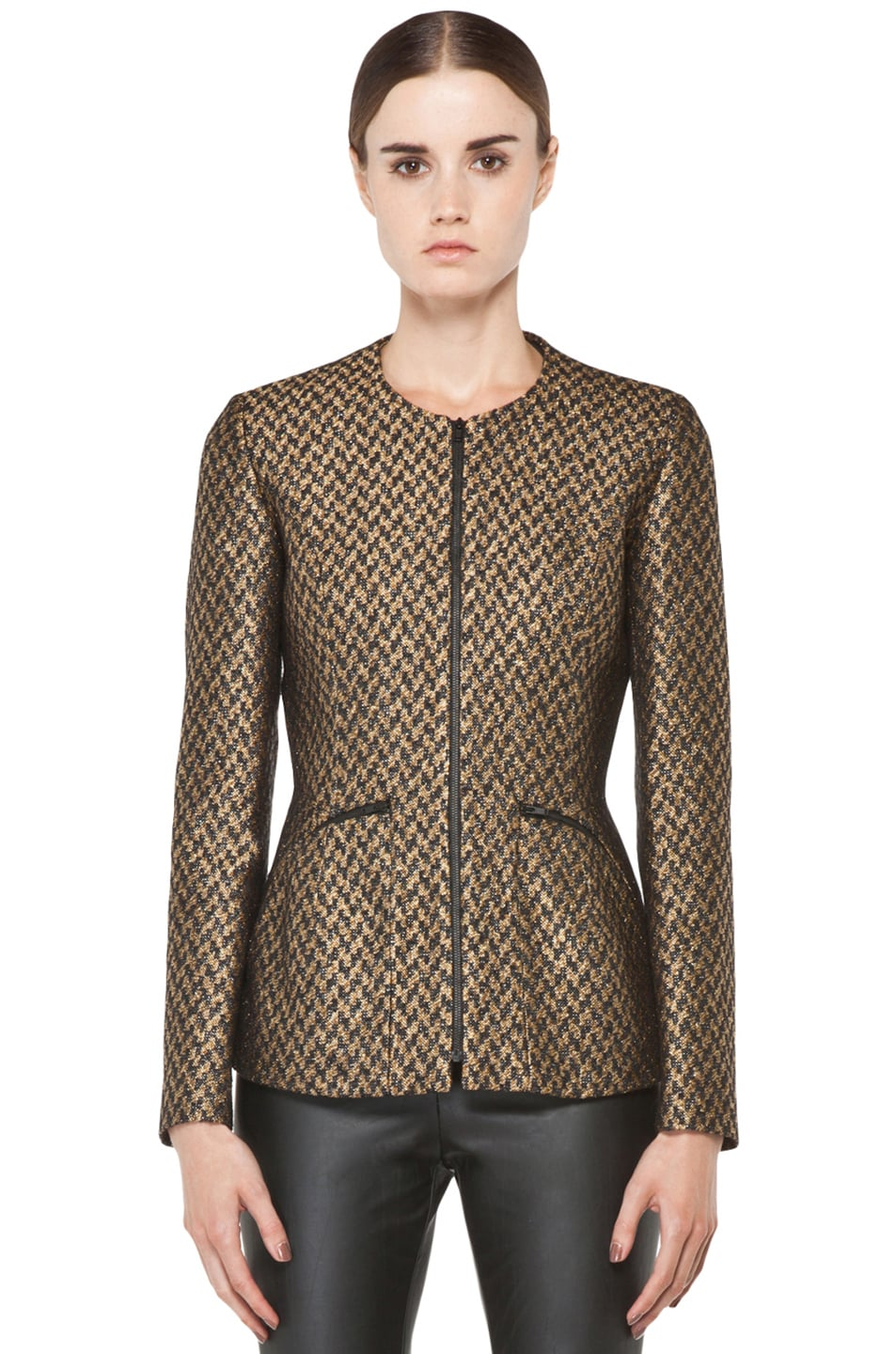 Image 2 of Theyskens' Theory Jelsor Faize Jacket in Gold Multi