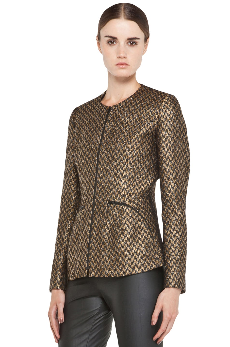 Image 3 of Theyskens' Theory Jelsor Faize Jacket in Gold Multi
