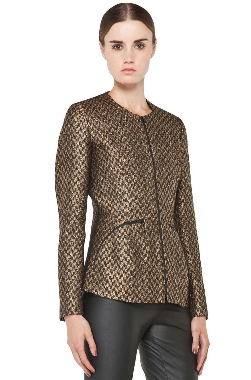 Image 4 of Theyskens' Theory Jelsor Faize Jacket in Gold Multi